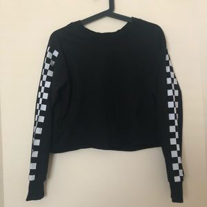 🍒2/$20🍒 Long Sleeve With Checkerboard Sleeves